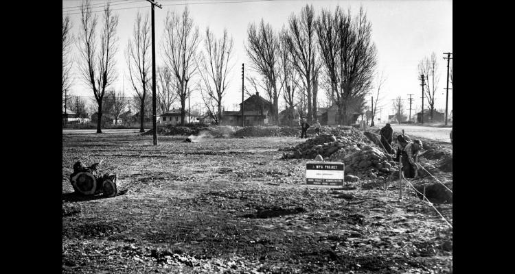 Construction of the Deer Park pool begins, 1941