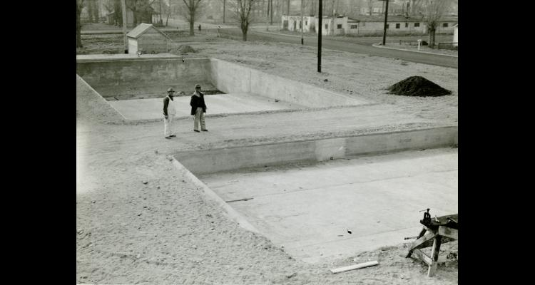 Construction of the Deer Park pool