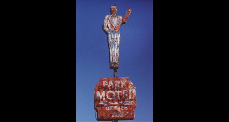 Park Motel sign