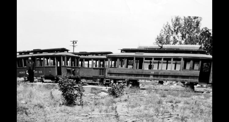Abandoned streetcars