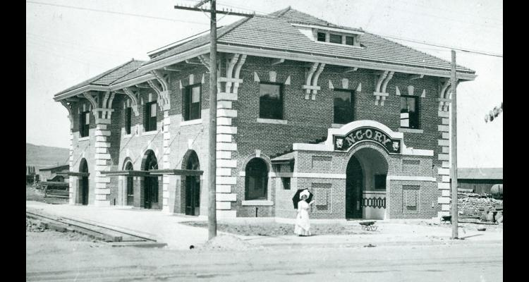 Photo of the Nevada-California-Oregon Railroad Depot